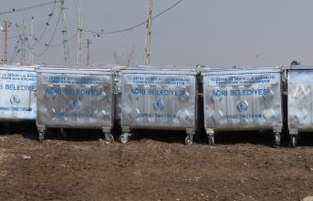 Ağrı Belediyesinden 693 Çöp Konteyneri