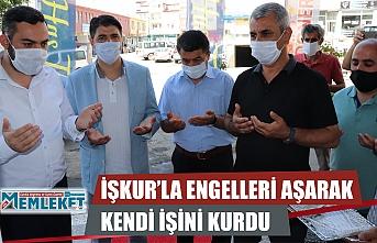 İŞKUR'LA ENGELLERİ AŞARAK KENDİ İŞİNİ KURDU
