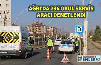 AĞRI'DA 236 OKUL SERVİS ARACI DENETLENDİ