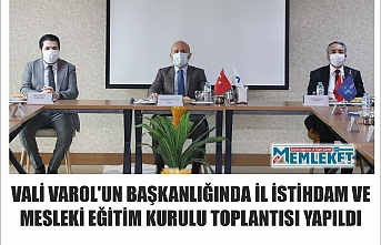 Vali Varol'un başkanlığında il istihdam ve mesleki eğitim kurulu toplantısı yapıldı