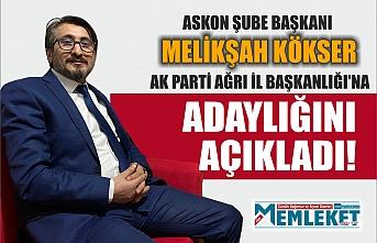 ASKON Şube Başkanı Kökser, AK Parti Ağrı İl Başkanlığı'na Adaylığını Açıkladı