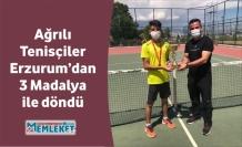 Ağrılı Tenisçiler Erzurum'dan 3 Madalya ile döndü