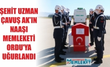 ŞEHİT UZMAN ÇAVUŞ AK'IN NAAŞI MEMLEKETİ ORDU'YA UĞURLANDI