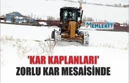 Ağrı'da 'kar kaplanları' zorlu kar mesaisinde