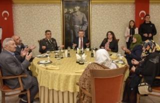 Vali Elban, Şehit Anneleri ve Eşleriyle İftar Yemeğinde...