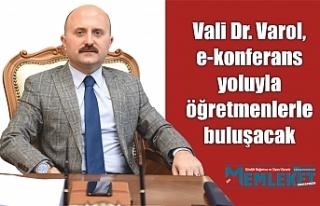 Ağrı Valisi Dr. Varol, e-konferans yoluyla öğretmenlerle...