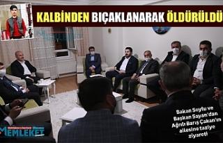 Bakan Soylu'dan Barış Çakan'ın ailesine...