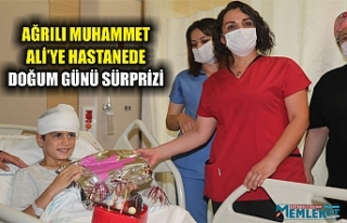 Ağrılı Muhammet Ali'ye hastanede doğum günü...