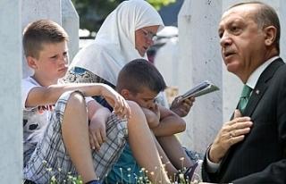 Cumhurbaşkanı Erdoğan'dan Srebrenitsa Soykırımı...