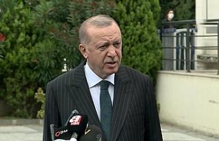 Son Dakika: Cumhurbaşkanı Erdoğana cuma namazı...