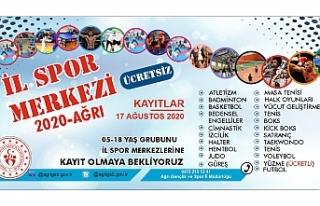 Ağrı'da Ücretsiz Yaz Spor Okulları Kayıtları...