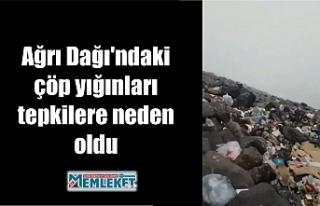 Ağrı Dağı'ndaki çöp yığınları tepkilere...