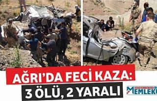 Doğubayazıt'ta Feci kaza: 3 ölü, 2 yaralı