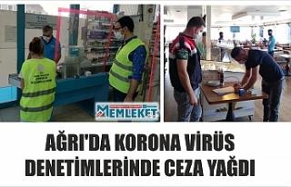 AĞRI'DA KORONA VİRÜS DENETİMLERİNDE CEZA...