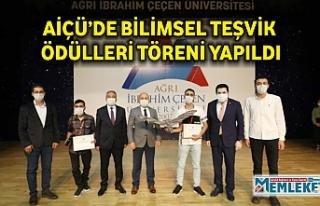 AİÇÜ'DE BİLİMSEL TEŞVİK ÖDÜLLERİ TÖRENİ...