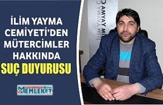 İLİM YAYMA CEMİYETİ'DEN MÜTERCİMLER HAKKINDA...