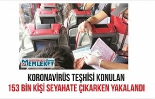 KORONAVİRÜS TEŞHİSİ KONULAN 153 BİN KİŞİ...
