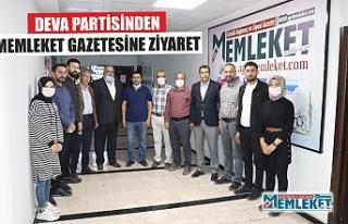 DEVA PARTİSİNDEN AĞRI MEMLEKET GAZETESİNE ZİYARET