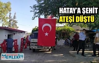 HATAY'A ŞEHİT ATEŞİ DÜŞTÜ