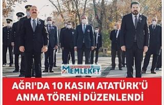 Ağrı'da 10 Kasım Atatürk'ü anma töreni...