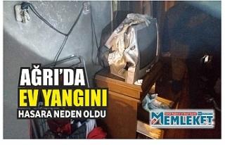 Ağrı'da bir evde çıkan yangın hasara neden...