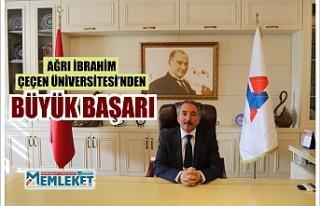 Ağrı İbrahim Çeçen Üniversitesi'nden Büyük...