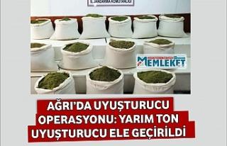 AĞRI'DA UYUŞTURUCU OPERASYONU: YARIM TON UYUŞTURUCU...