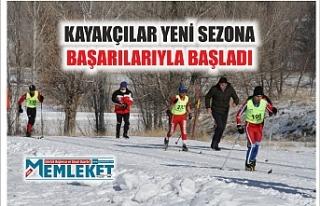 Ağrılı kayakçılar yeni sezona başarılarıyla...