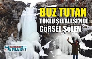 BUZ TUTAN TOKLU ŞELALESİ'NDE GöRSEL ŞöLEN