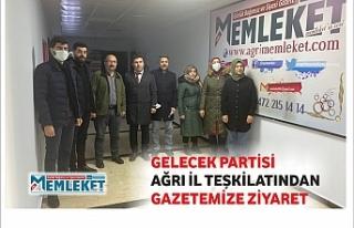 GELECEK PARTİSİ AĞRI İL TEŞKİLATINDAN GAZETEMİZE...