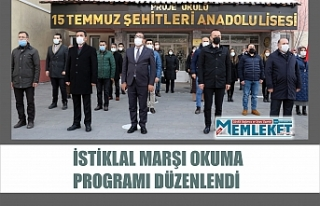 İstiklal Marşı okuma programı düzenlendi