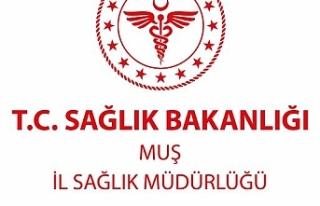MUŞ İL SAĞLIK MÜDÜRLÜĞÜ'NE TIBBİ GAZ...