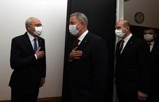 Hulusi Akar ve Süleyman Soylu, CHP lideri Kılıçdaroğlu'nu...