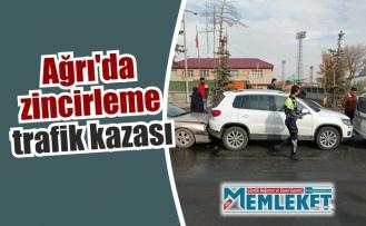 Ağrı'da zincirleme trafik kazası