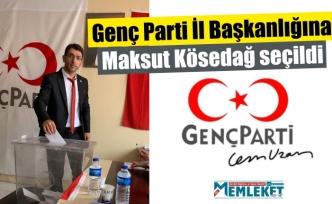 Genç Parti İl Başkanlığına Maksut Kösedağ seçildi