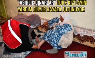 """""""Asırlık çınarlar"""" Türk Kızılayın yardım eliyle hayata tutunuyor"""