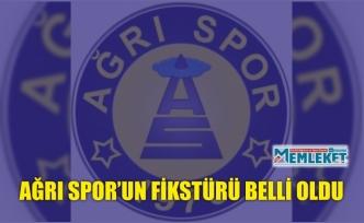 AĞRI SPOR'UN FİKSTÜRÜ BELLİ OLDU