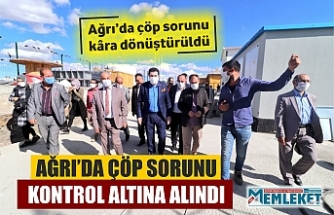AĞRI'DA ÇÖP SORUNU KONTROL ALTINA ALINDI