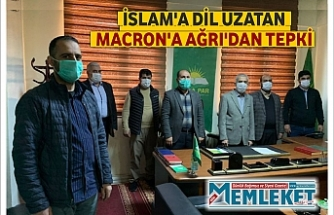 İSLAM'A DİL UZATAN MACRON'A AĞRI'DAN TEPKI