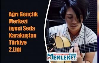 Ağrı Gençlik Merkezi üyesi Seda Karakuştan Türkiye 2.Liği