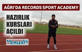AĞRI'DA RECORDS SPORT ACADEMY HAZIRLIK KURSLARI AÇILDI