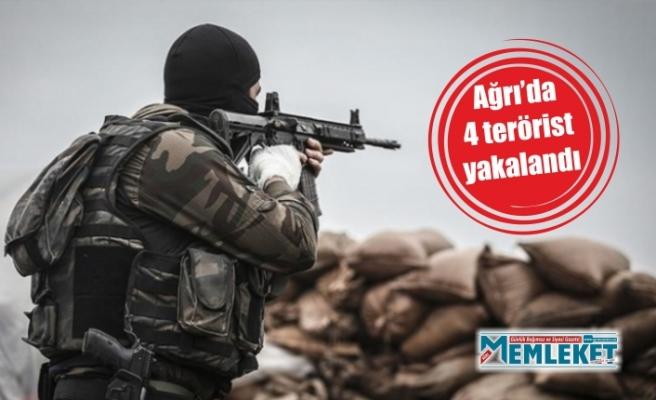 Ağrı'da 4 terörist yakalandı