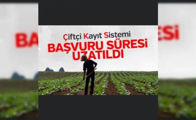 Ağrı'da Çiftçi Kayıt Sistemi (ÇKS) başvuruları uzatıldı