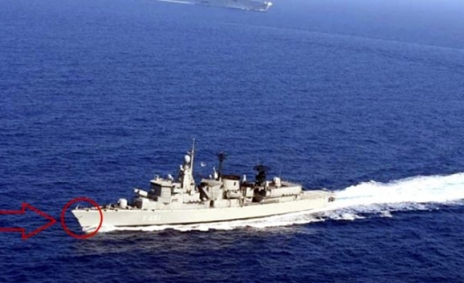 Doğu Akdeniz'de Oruç Reis'i engellemek isteyen Yunan gemisi hasar aldı