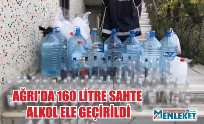 AĞRI'DA 160 LİTRE SAHTE ALKOL ELE GEÇİRİLDİ