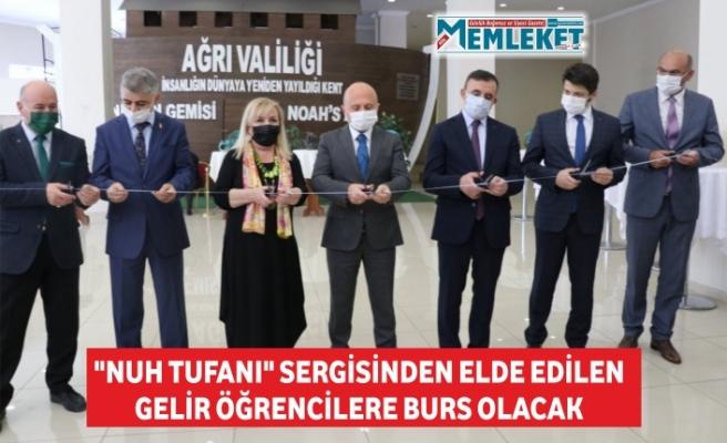 """""""NUH TUFANI"""" SERGİSİNDEN ELDE EDİLEN GELİR ÖĞRENCİLERE BURS OLACAK"""