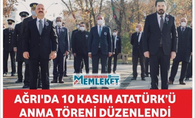 Ağrı'da 10 Kasım Atatürk'ü anma töreni düzenlendi
