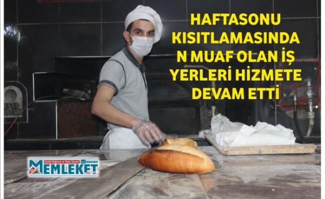 HAFTASONU KISITLAMASINDAN MUAF OLAN İŞ YERLERİ HİZMETE DEVAM ETTİ