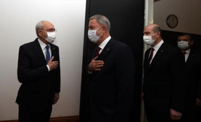 Hulusi Akar ve Süleyman Soylu, CHP lideri Kılıçdaroğlu'nu ziyaret etti