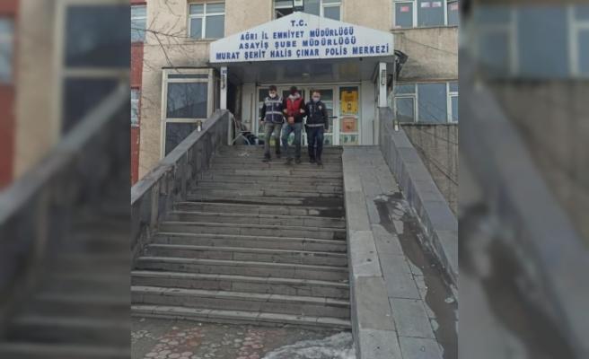 Ağrı'da birçok suçtan kaydı bulunan zanlı tutuklandı